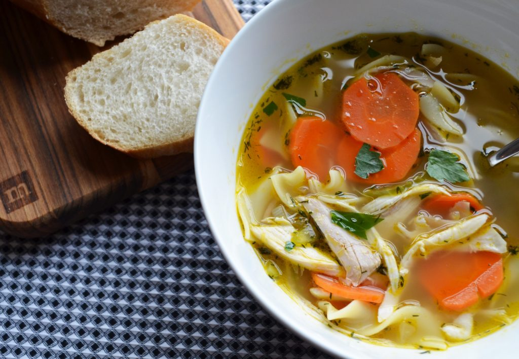 Simple Chicken Noodle Soup - Whisking Mama
